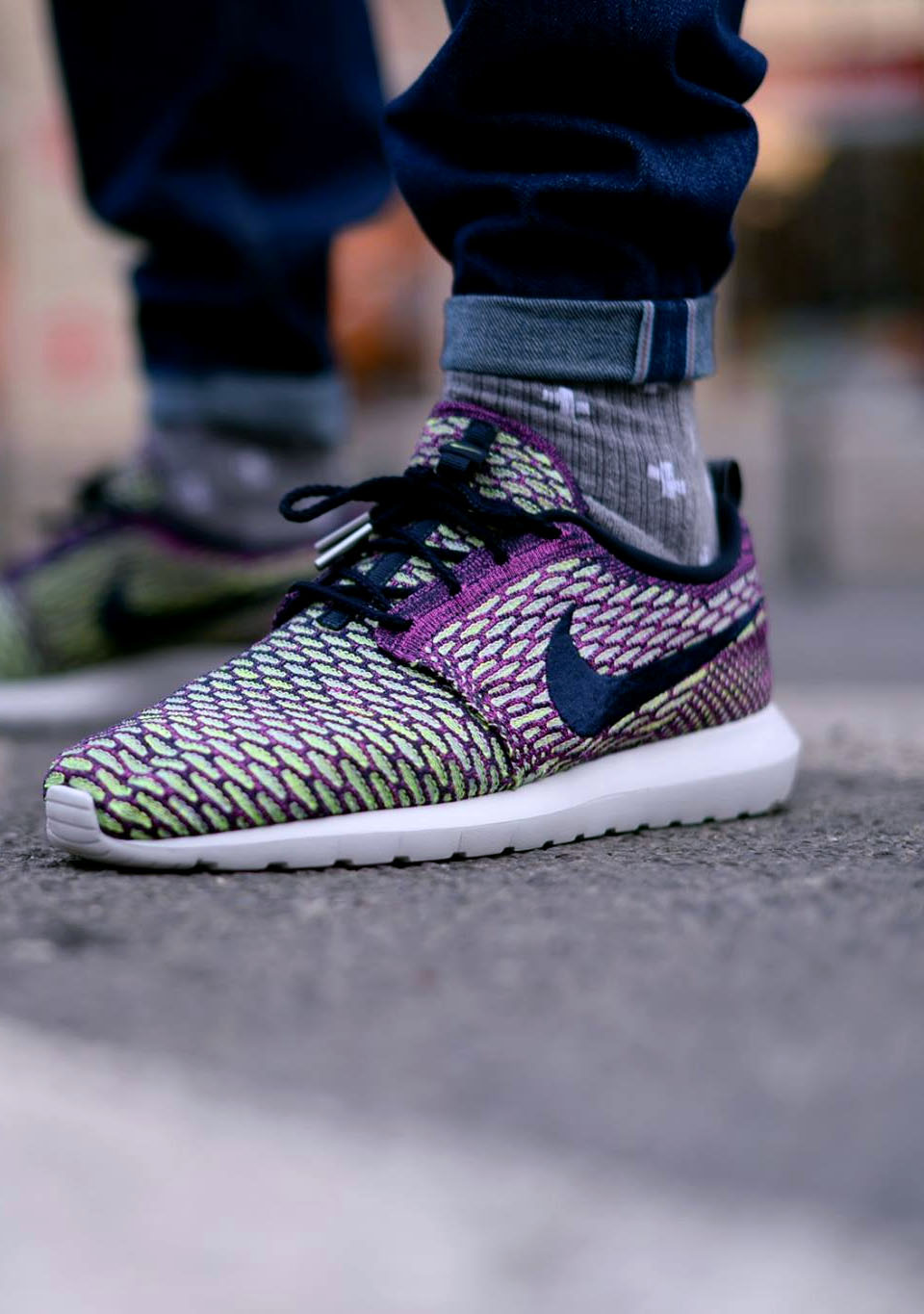 Czech Nike Floral Roshe - Premium Materials Nike Roshe Run Sneaker Women S Trainers Voilet Volt Great Quality Nike Discount