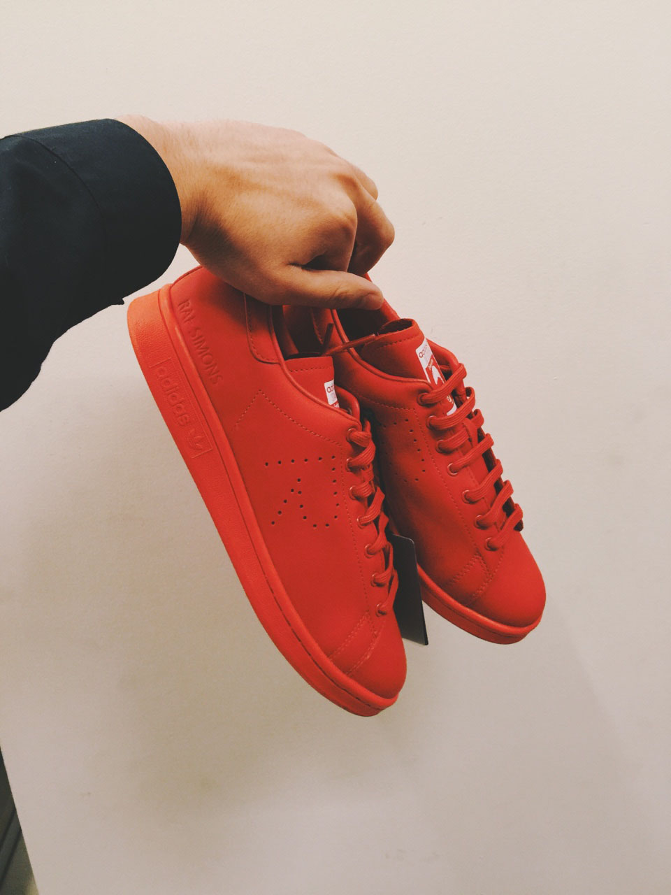 RAF SIMONS × ADIDAS Stan Smith Sneakers in Red