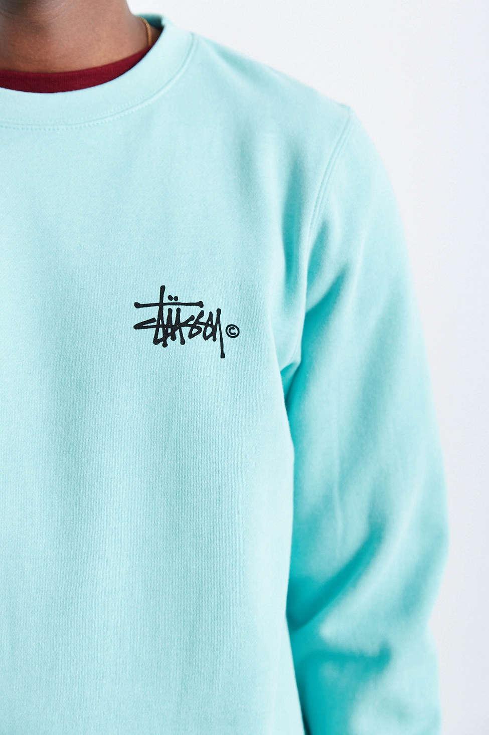 STUSSY Basic Logo Crew Neck Sweatshirt