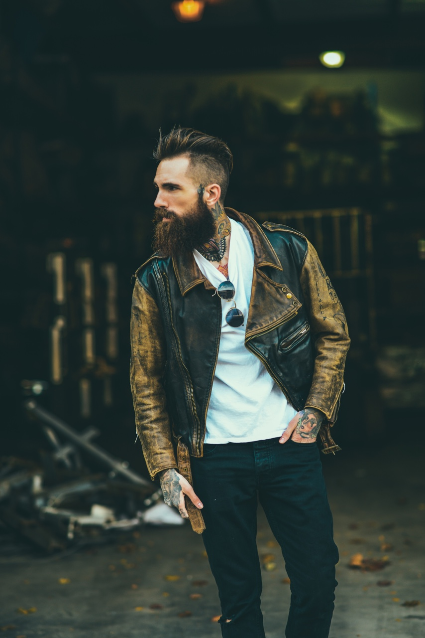 Leather Jacket × Beard NYC