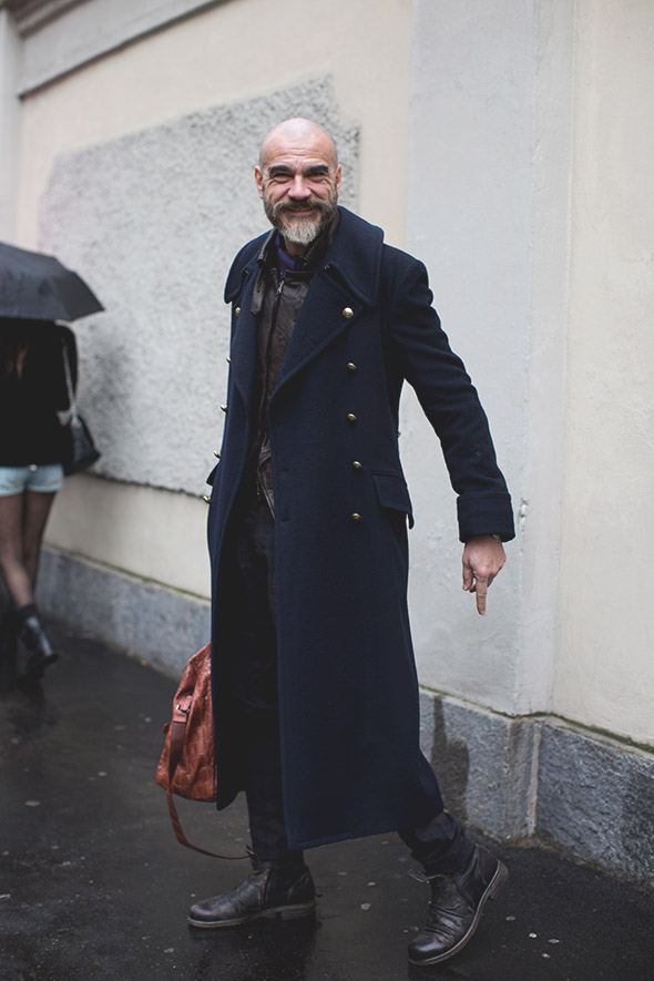 Overcoat × Metal Buttons #menswear #style #fashion