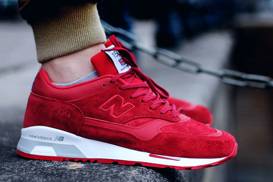 Flying the Flag in red #redshoes #newbalance #nb1500 #suede