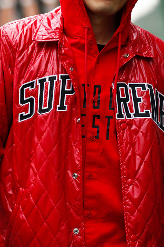 Red Supreme Quilted Jacket