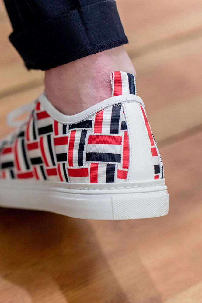 Woven goodness from Thom Browne #thombrowne #sneakers #fashion