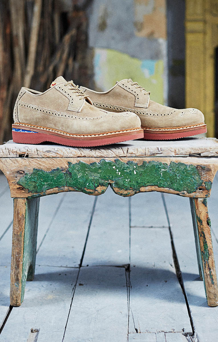 VISVIM Patrician WT Folk in Sand Shoes