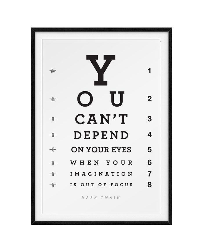 Mark Twain inspirational quote on imagination #marktwain #imagination #typography #quote