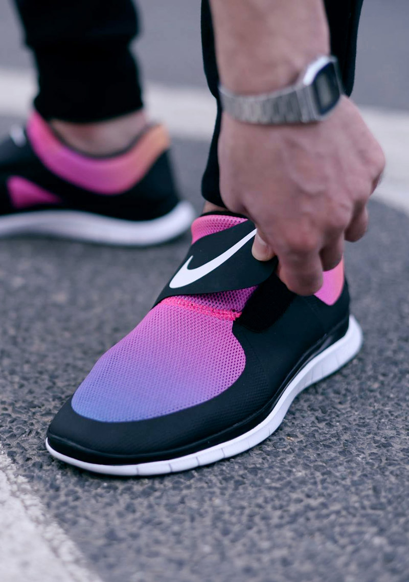 Awesome Latest Nike Roshe Run IV ZENJI Stylish Women Running Shoes Gray Pink