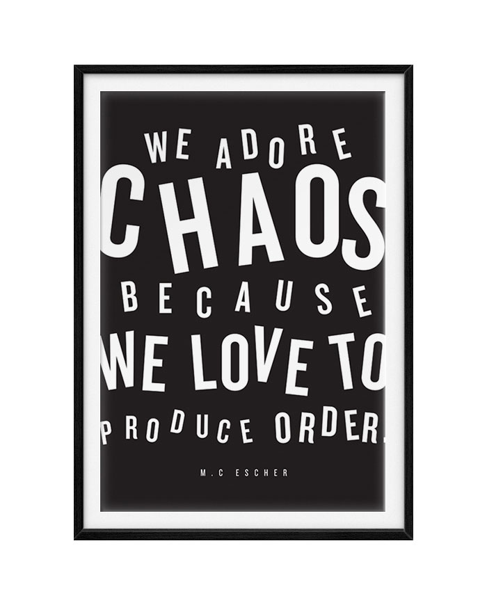 CHAOS! #typography #quote