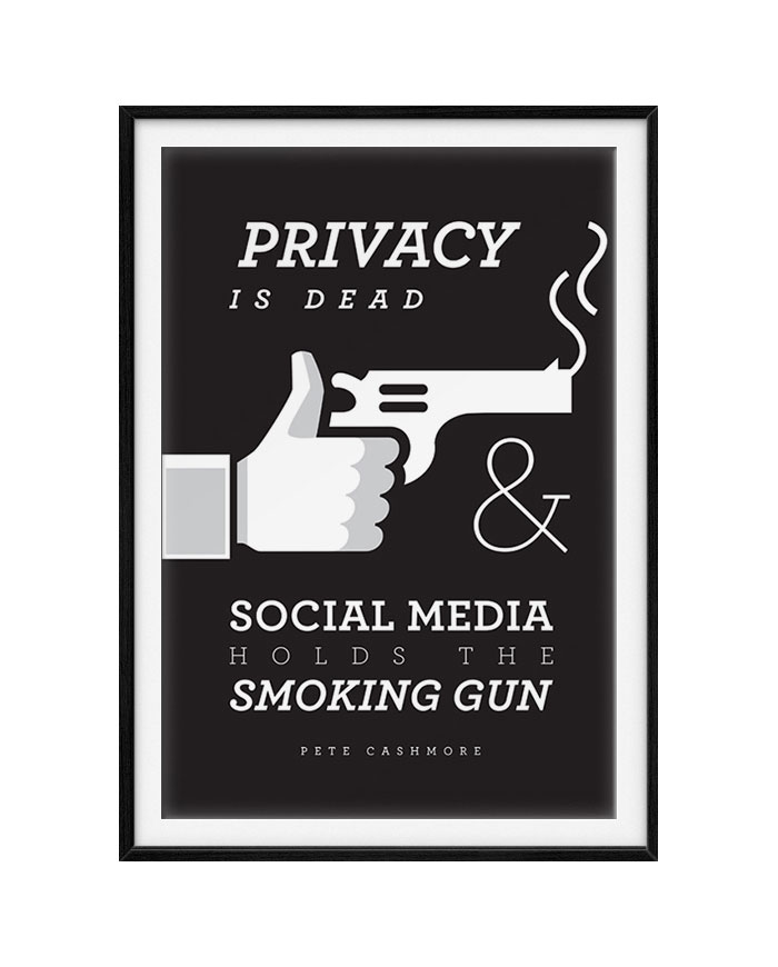 No privacy. #socialmedia #privacy #typography #quote