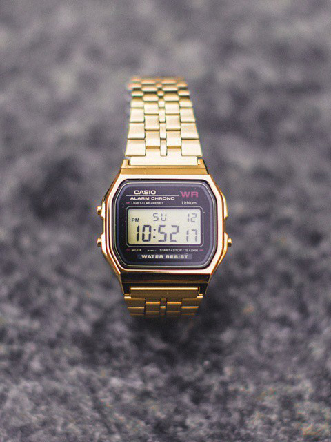 Retro #casio #gold #digital #watch #menswear