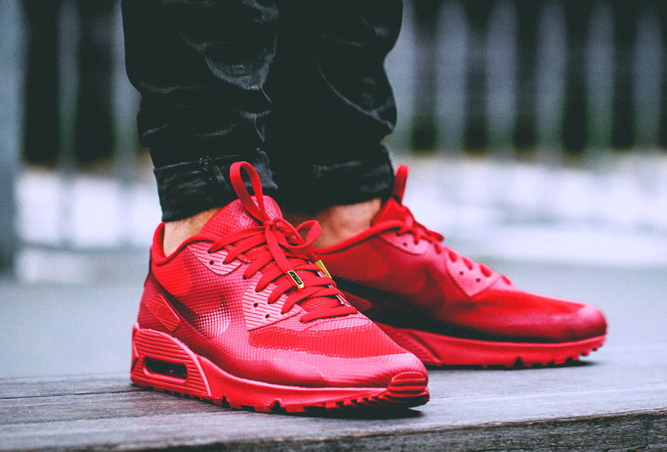 nike air max 90 hyperfuse premium id solar red dot