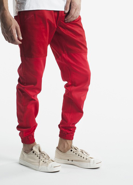 Red. #publish #joggers #menswear