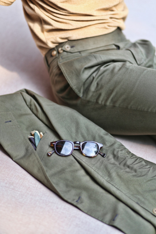 Olive Green Cotton Suit #tailorable
