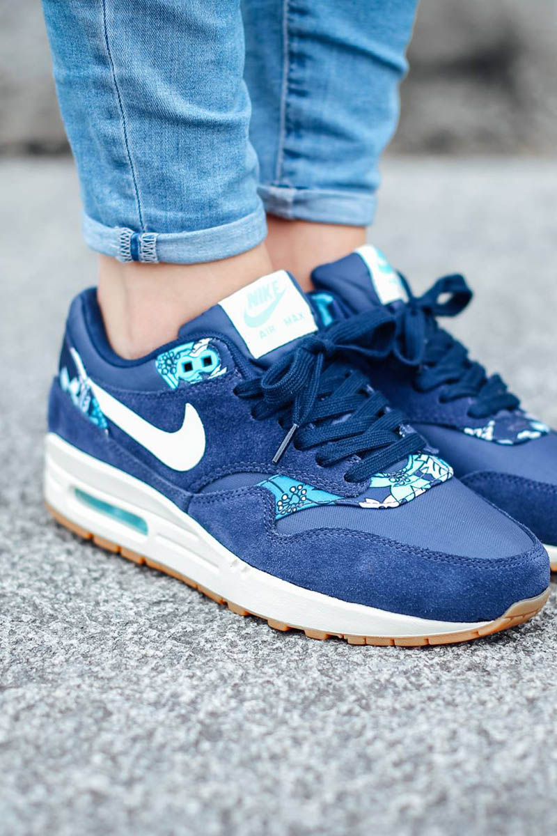 Nike Air Max 1 Women Blue Print