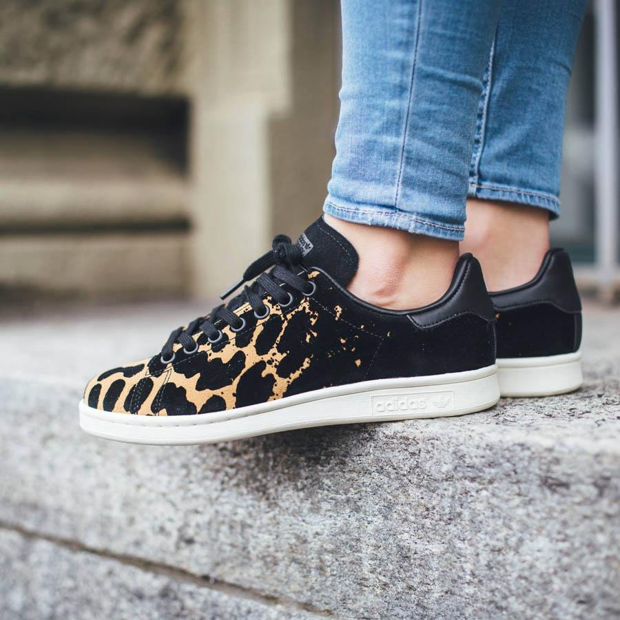 stan smith black cheetah
