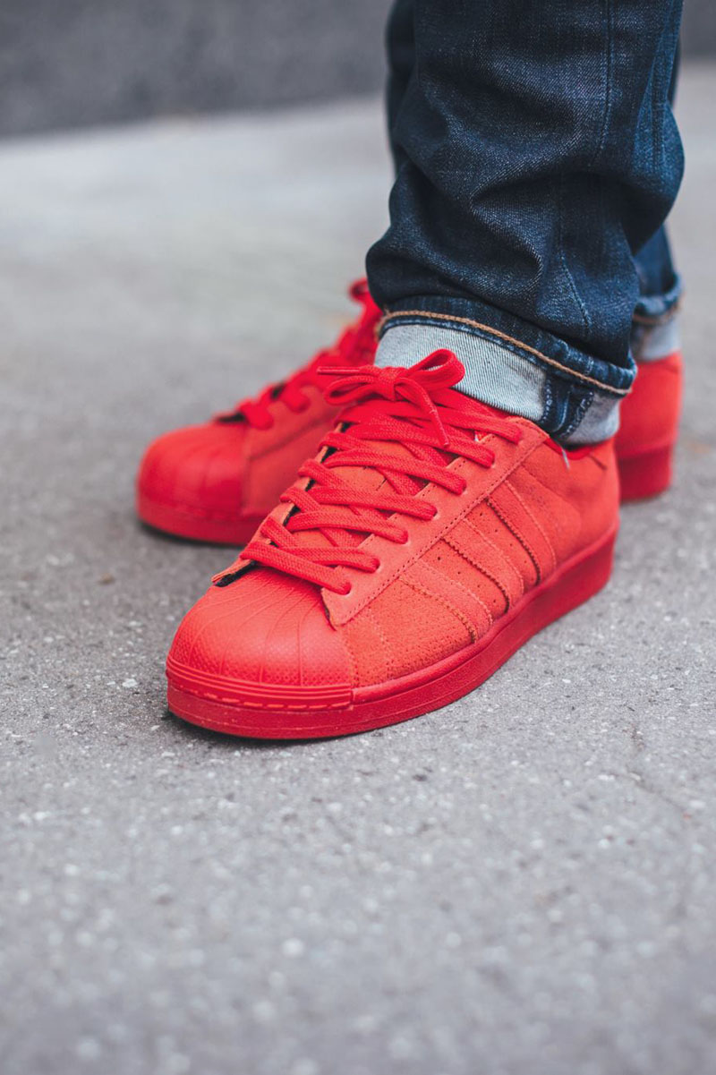 Red Superstar Shoes