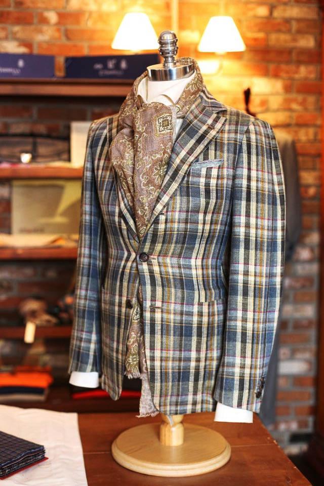 Washed linen jacket #menswear