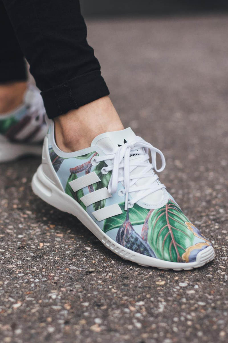 Smooth Floral #adidas #zxflux