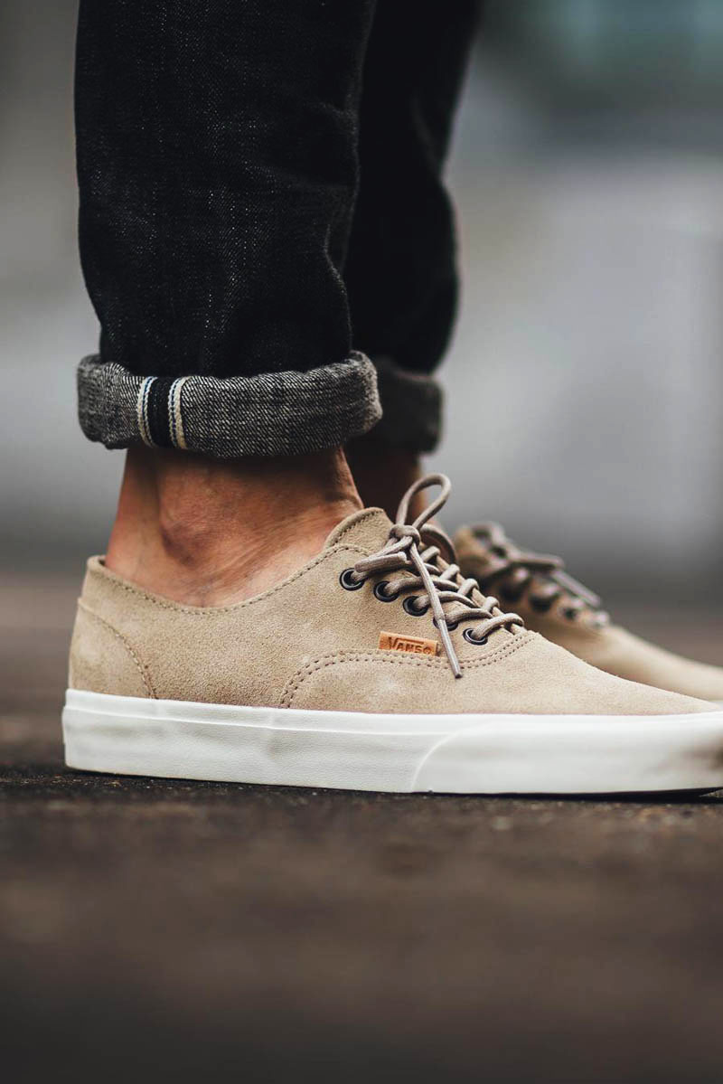 The latest VANS Era Decon CA in #raw suede uppers. Available in 3 colorways #black #olive #khaki