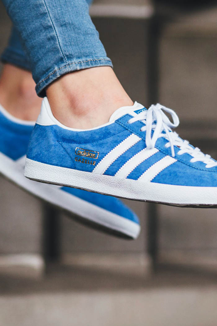 ADIDAS Gazelle OG in light blue and #gold #suede #sneakers #classic
