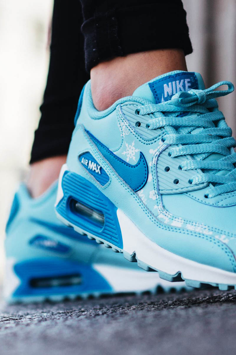 nike air max blue snowflakes