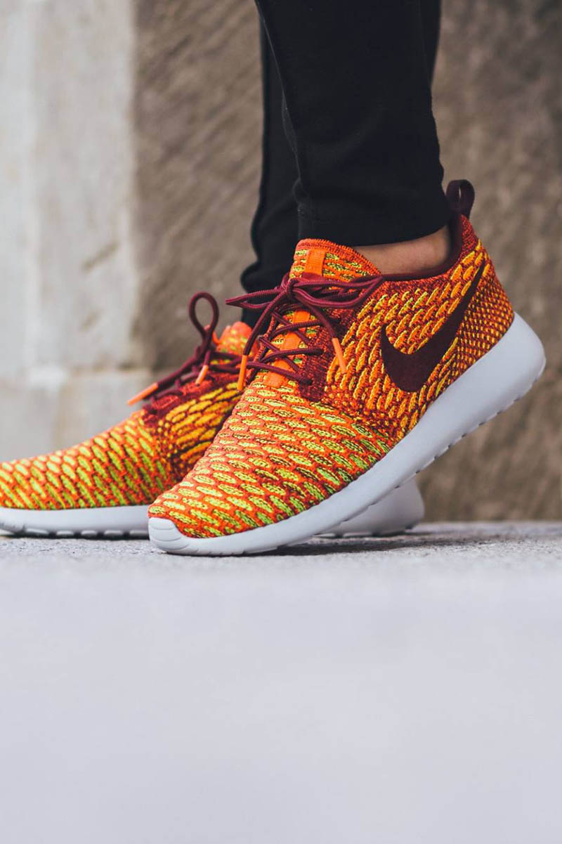Team Red & Crimson NIKE Roshe One Flyknit. #womens #sneakers