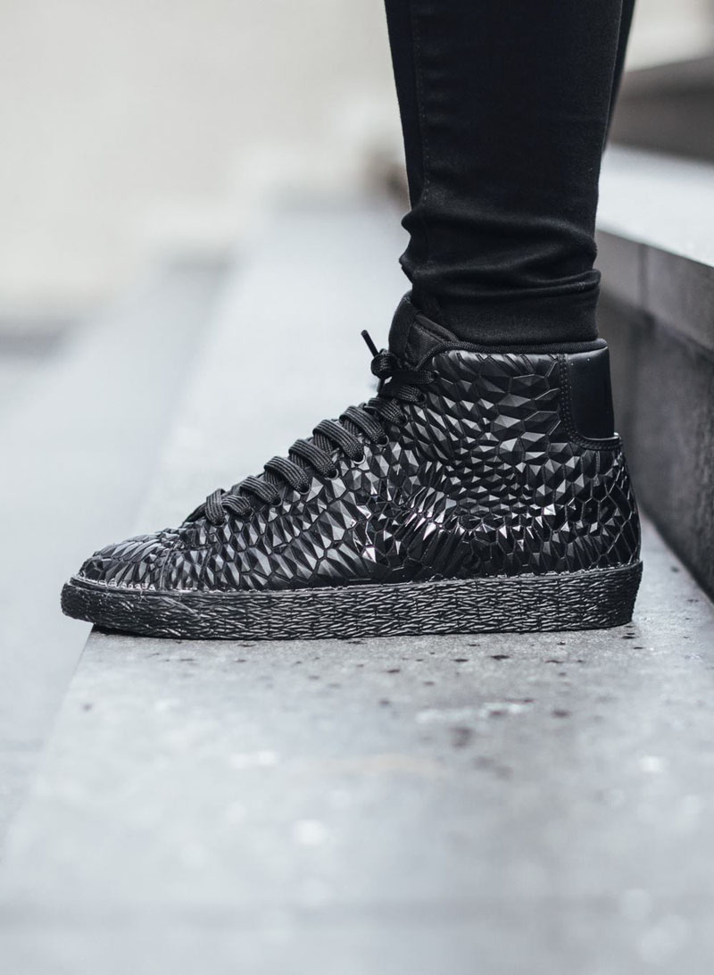 NIKE Blazer Mid #dmb #rock #textured #sneakers