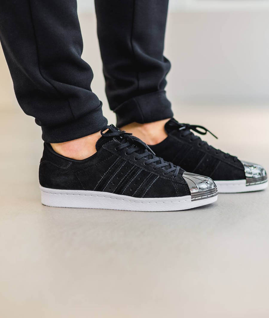 low priced f2f7d 8017e ADIDASOriginals Superstar 80 s Metal Toe Gold   Black 3 2 15