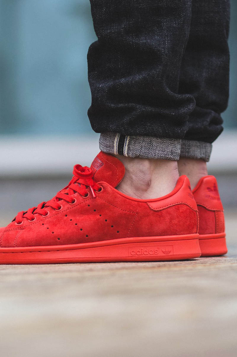 ADIDAS Stan Smith Red Varsity Suede  47949cd3b383