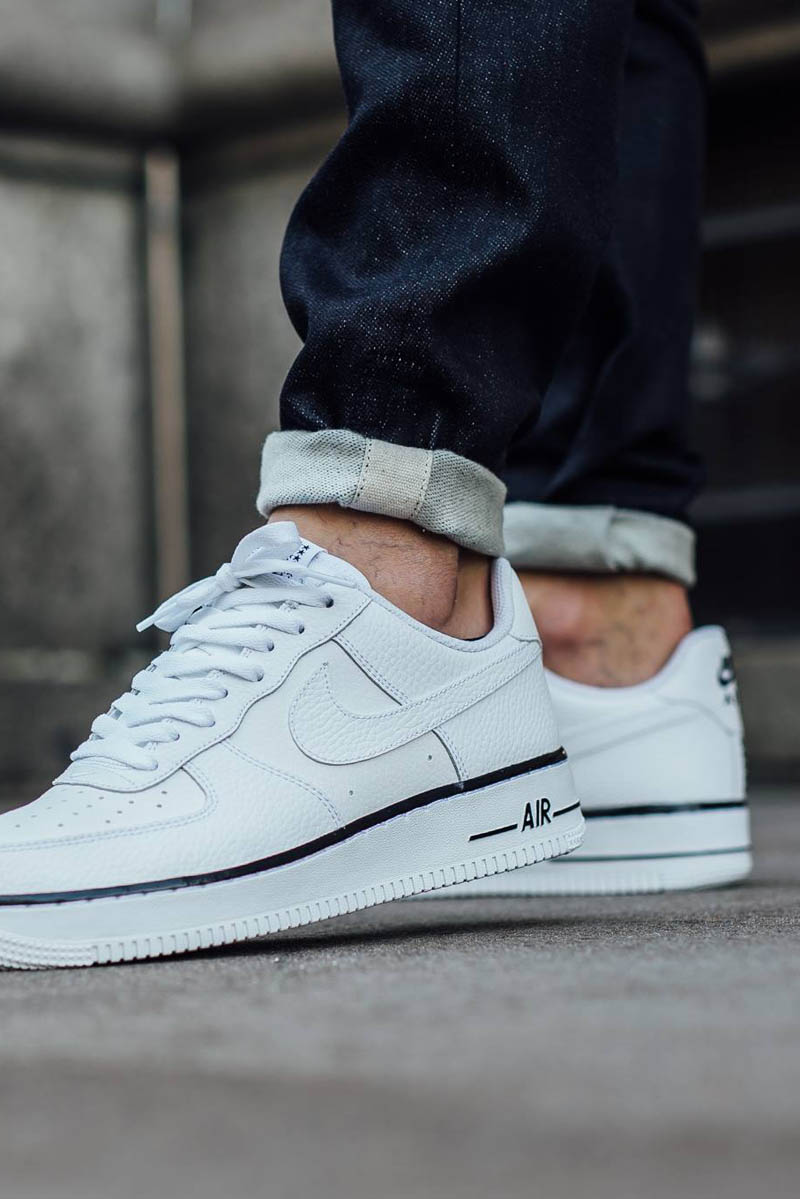 Nike Air Force 1 Faible Damier Blanc / Blanc Ac