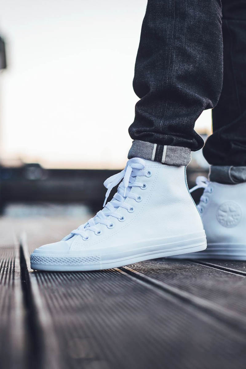 CONVERSE Chuck Taylor Leather High White