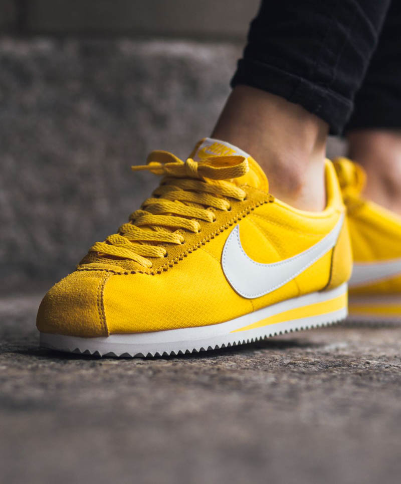 nike cortez yellow