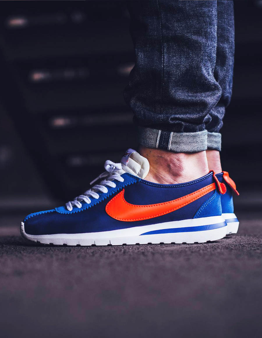 NIKE Roshe Cortez Blue × Orange