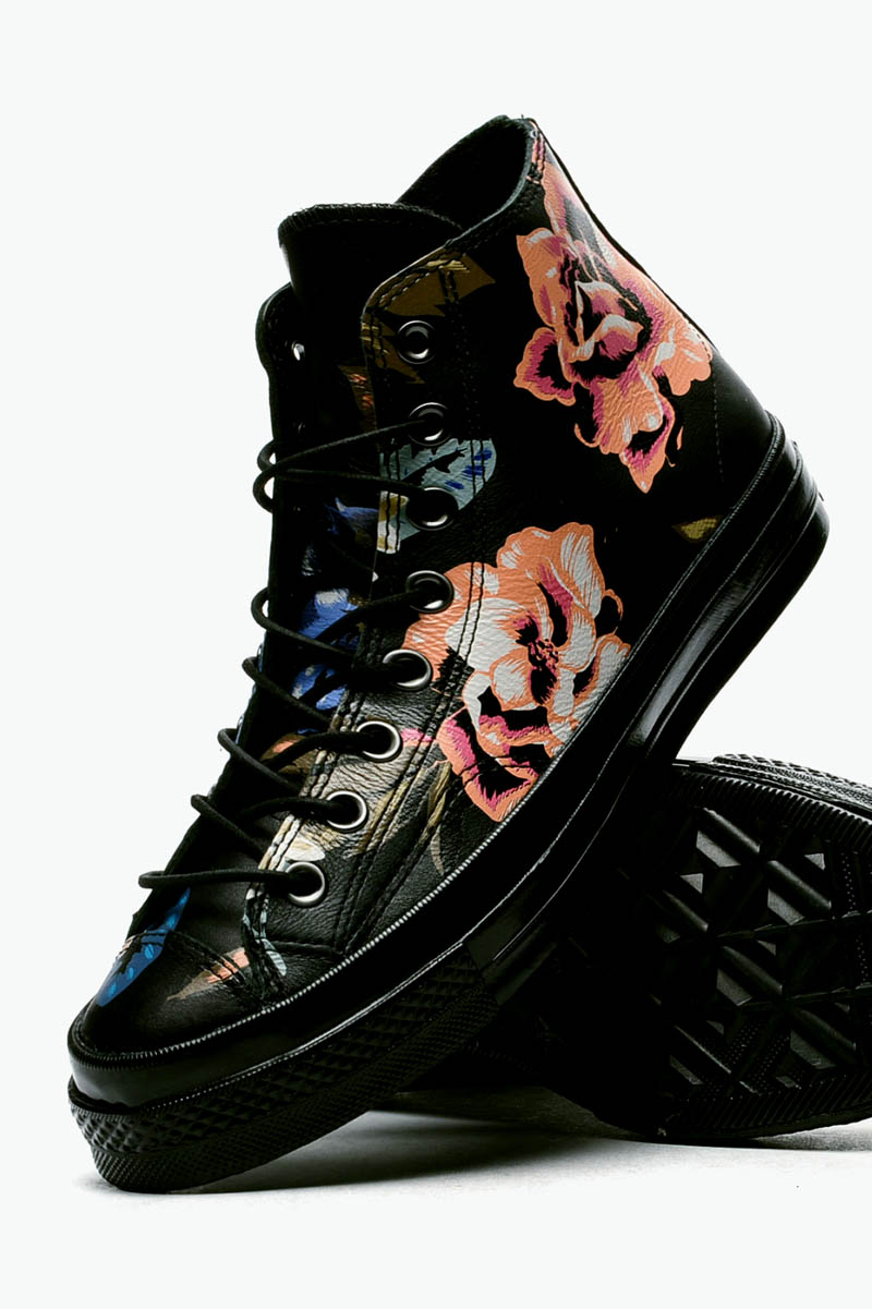 Black floral Chuck Taylor #throwback #sneakers