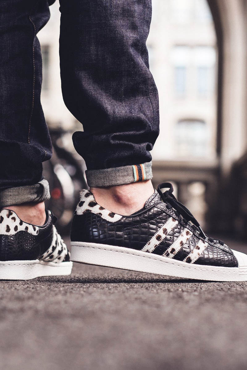 ADIDAS Superstar 80s Animal in Core Black