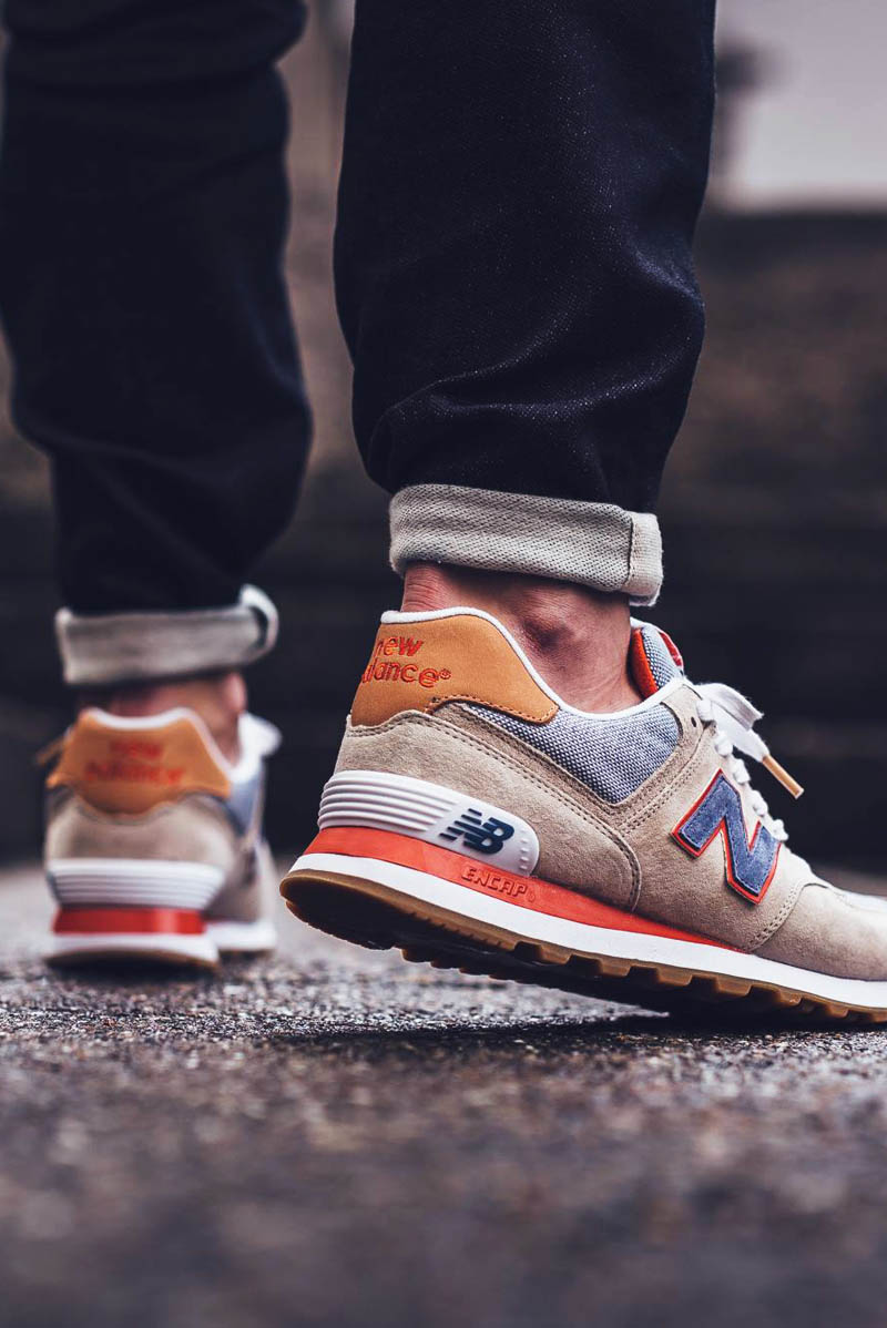 NEW BALANCE 574 Bleached Sand | SOLETOPIA