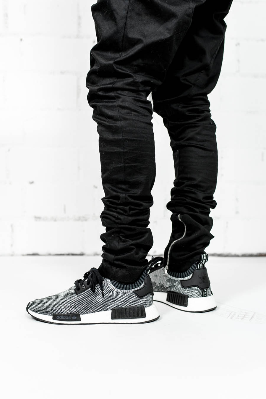 Slim Fit Cotton Pants × NMD Runner #streetwear