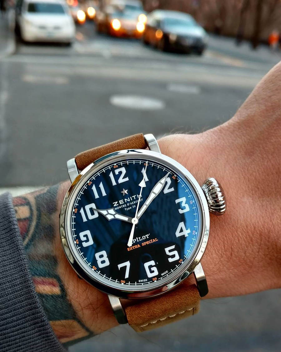 That's one classy watch, Zenith. For more info, click on the pic!