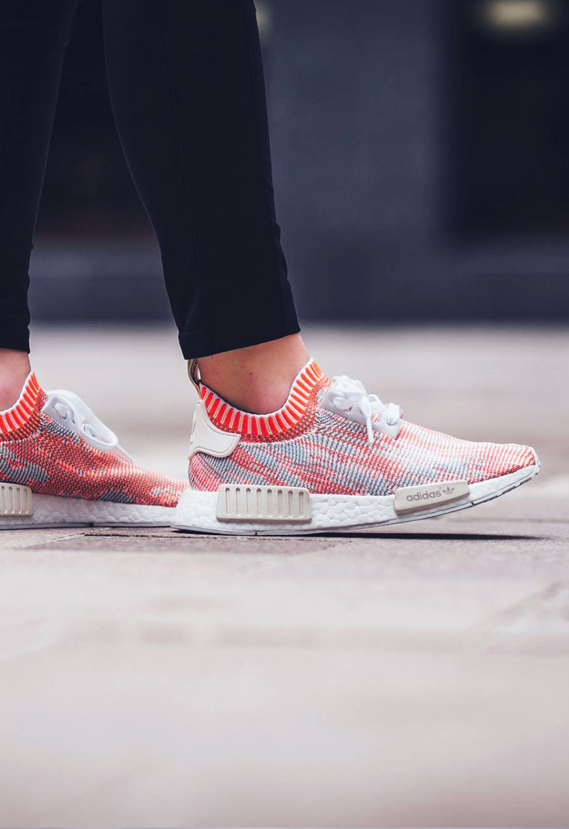 cheap for discount 5d2d5 f7f6d ADIDAS NMD R1 Primeknit White × Solar Red | SOLETOPIA