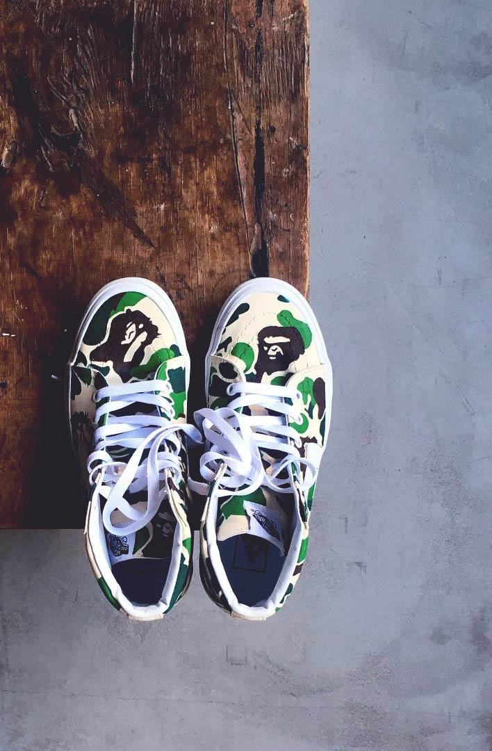 Custom Sk8-His! #bape #vans #womenstyle