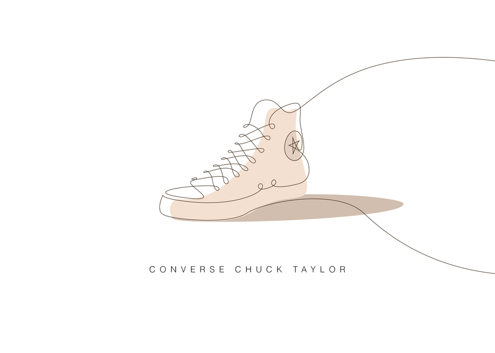 Picasso One Line Sneaker Art #minimal