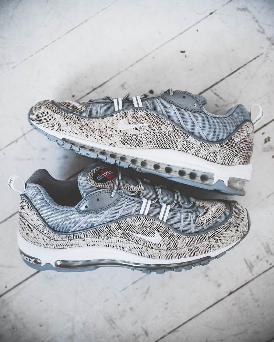 official photos 999dd d5efe SUPREME × NIKE Air Max 98 snakeskin