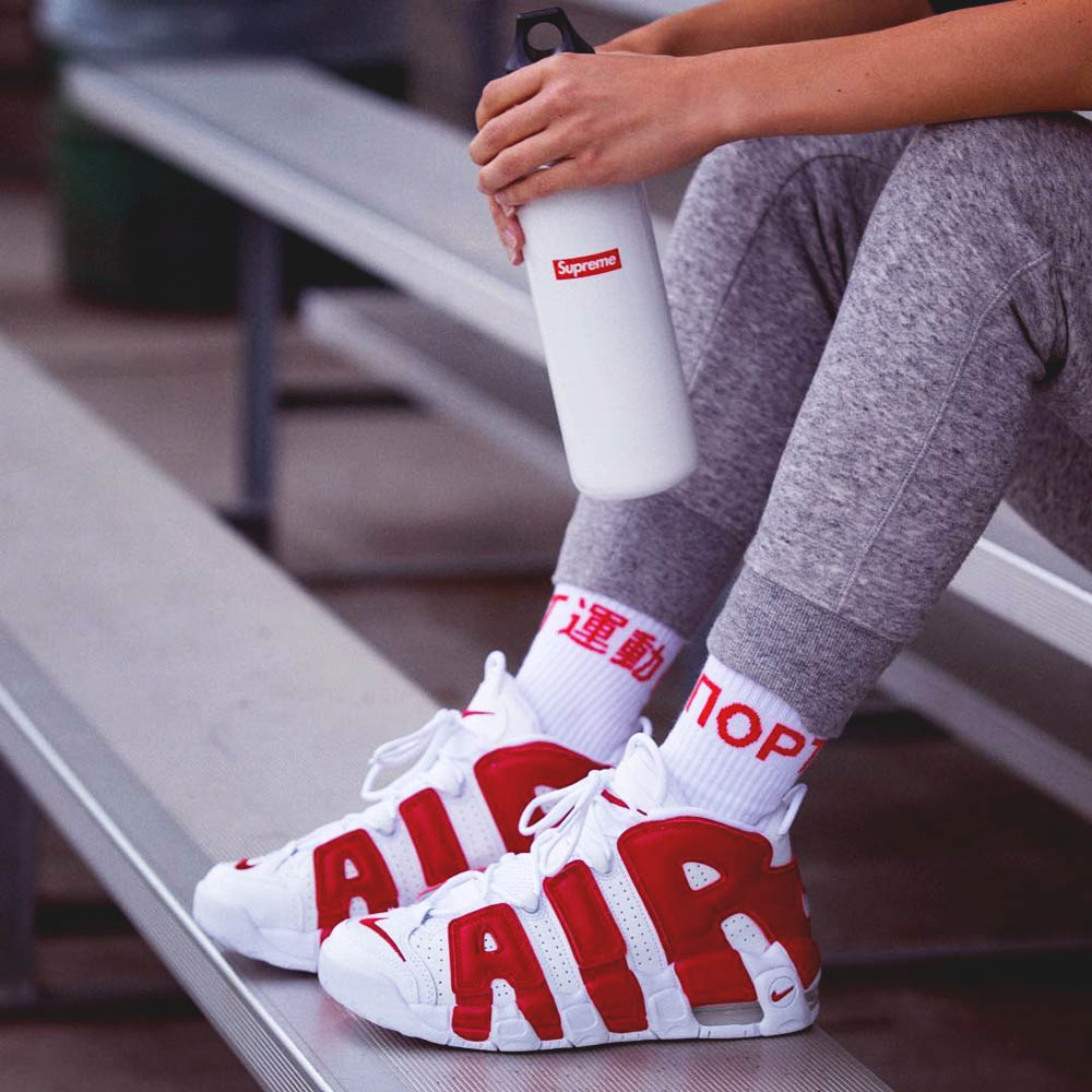 White × Red Air More Uptempo | SOLETOPIA