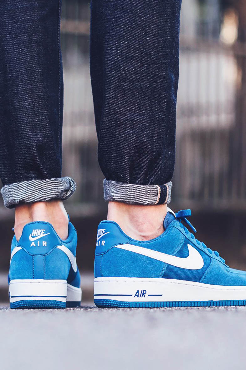 nike air force 1 low star blue/white