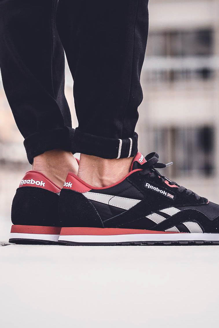 REEBOK Classic Nylon Black × Red