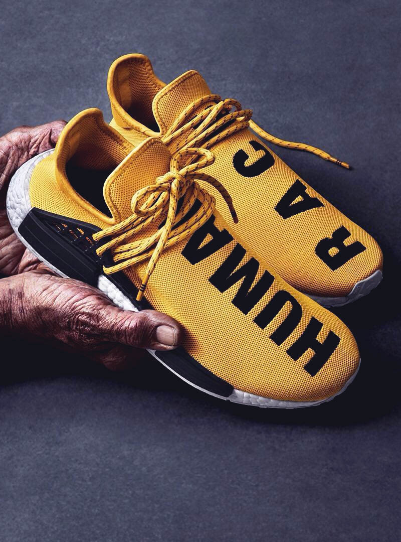 Fresh. Cool. Unique. It's the all new Pharrell × Adidas NMD Human Race