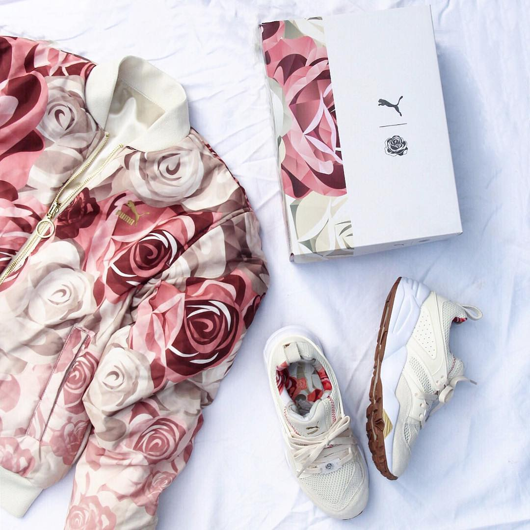 7.	The most beautiful rose print in street wear