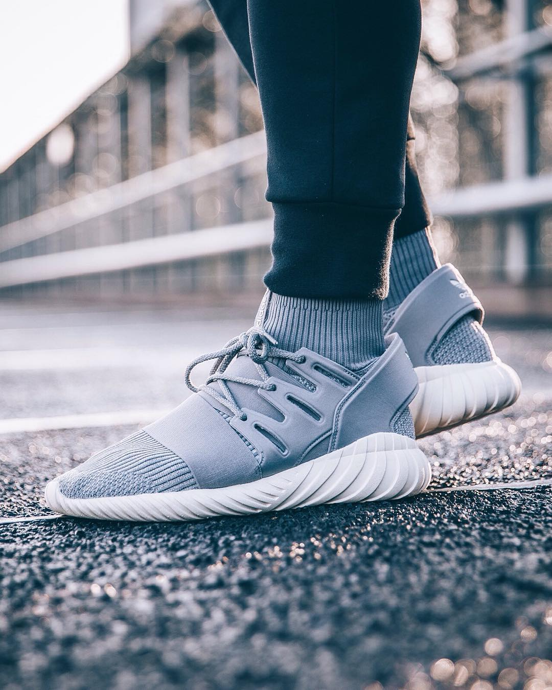 Grey Black Friday Tubular Doom Sock $50 to $100 Cheap Adidas US
