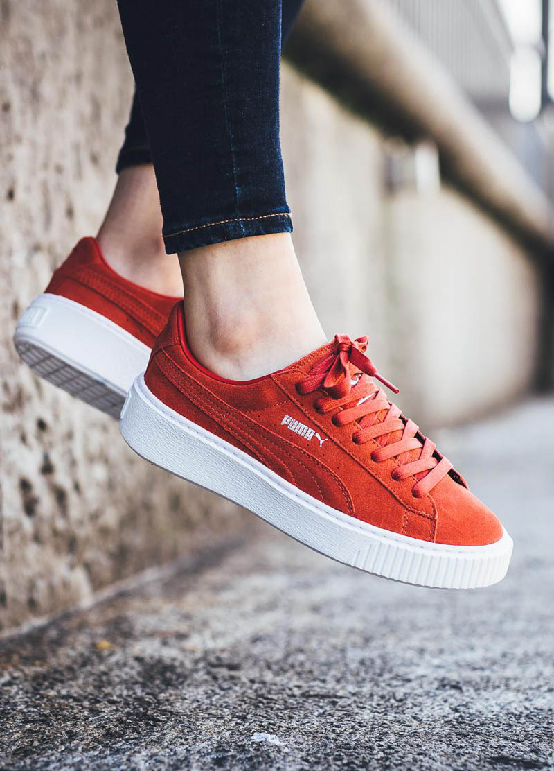 "Instantly become 1.5"" taller with Puma Suede Platform"