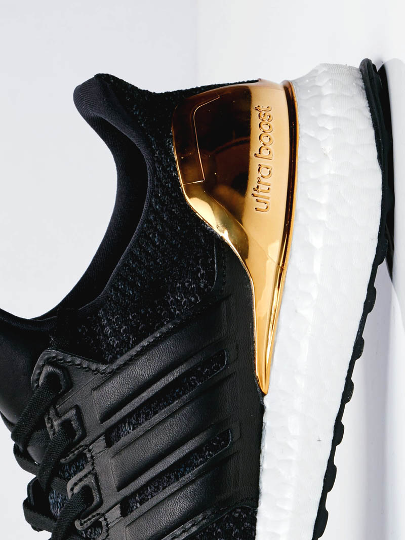 The long-awaited Black × Gold Adidas UltraBoost LTD. is finally here